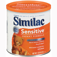 Abbott 57539 Similac Sensitive-Infant Formula with Iron-6/Case