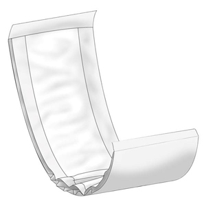 "Abena 4035 Abri-Let Flow-Thru Liner-6.3"" x 24""-120/Case"