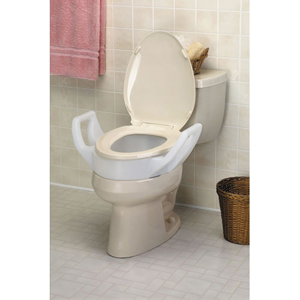"Ableware 725753310 Elevated Toilet Seat with Arms-3 1/2""-Elongated"
