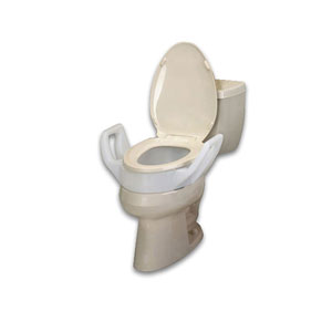 Ableware 725753311 Bath Safe Elevated Toilet Seat with Arms Elongated