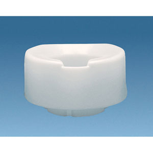 "Ableware 725861000 6"" Contoured Tall-Ette Elevated Toilet Seat"