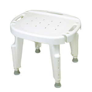 Ableware 727142001 Bath Safe Adjustable Shower Seat 300 LB Capacity