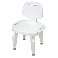 Ableware 727142101 Adjustable Shower Seat with Back-No Arms