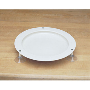 Ableware 745310050 Inner-Lip Plate with Suction Cups-Sandstone