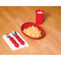Ableware 745380000 Redware Basic Tableware by Maddak