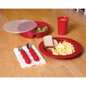 Ableware 745380001 Redware Deluxe Tableware by Maddak