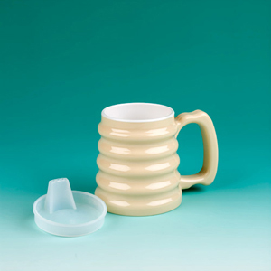 Ableware 745980001 Hand-to-Hand Mug with Lid by Maddak
