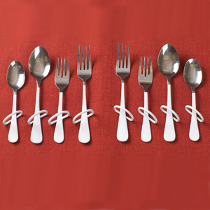 Ableware 746170000 Finger Loop Utensils-Right-handed Teaspoon