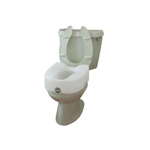 Ableware 725753101/725753111 Lock-On Elevated Toilet Seat