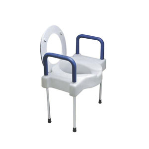 Ableware Extra Wide Tall Ette Elevated Toilet Seat With