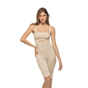 Annette iC-3006 Post Surgical Softcup Bra w/ Adjustments-32D-Beige