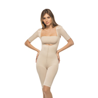 Renolife by Annette iC-3008 Full Body Above the Knee Girdle w/ Sleeves