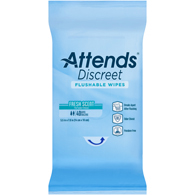 Attends ADFW40 Discreet Flushable Wipes-960/Case
