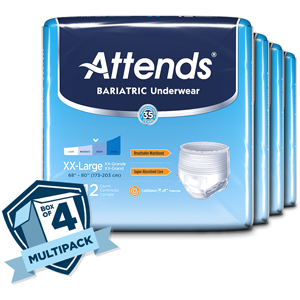 Attends AU50 Bariatric Underwear-2XL-48/Case