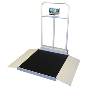 Befour MX450D Dual Ramp Tilt & Roll Wheelchair Scale with Handrail