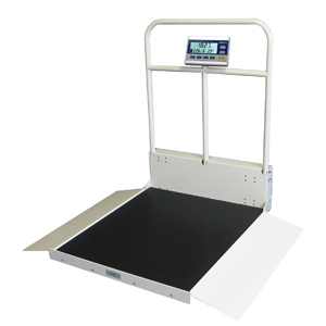 Befour MX480D Dual Ramp Folding Wheelchair Scale with Handrail