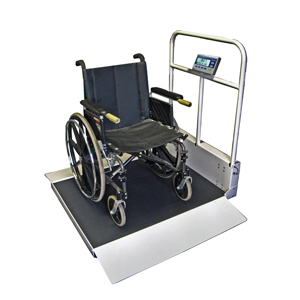 Befour MX490D Extra Deep Dual Ramp Folding Wheelchair Scale with Handrail