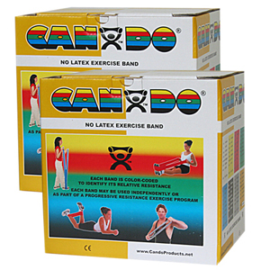 CanDo 10-5658 Latex Free Exercise Band-100 Yard/Pack-5 Piece Set