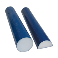 CanDo PE Foam Roller-Blue TufCoat Finish