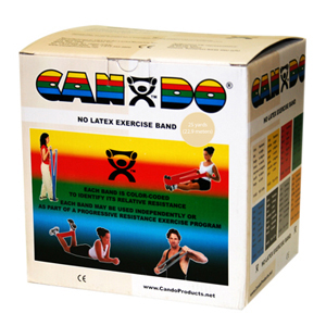 CanDo Latex Free Exercise Bands-25 Yard Rolls