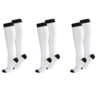 Celeste Stein Knit Womens 8-15 mmHg Compression Socks-3 Pairs