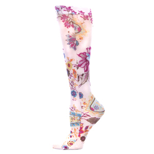 Celeste Stein Womens Compression Sock-Tropical Paisley