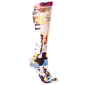 Celeste Stein Womens Compression Sock-Comic