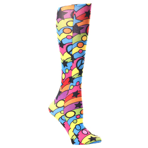 Celeste Stein Womens Compression Sock-Rainbow 60's