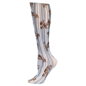 Celeste Stein Womens Compression Sock-Jumping Horses