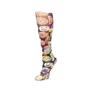 Celeste Stein Compression Sock-Halloween Pumpkin