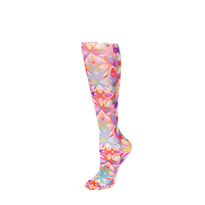 Celeste Stein Womens Compression Sock-Abstract Colors