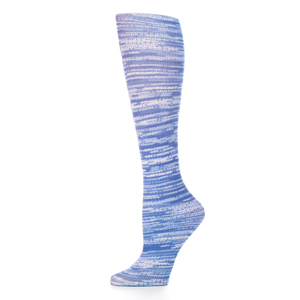 Celeste Stein Womens Compression Sock-Denim Stripes