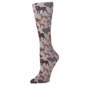 Celeste Stein Womens Compression Sock-Dog Show