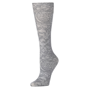 Celeste Stein Compression Sock-Grey Morning Lace