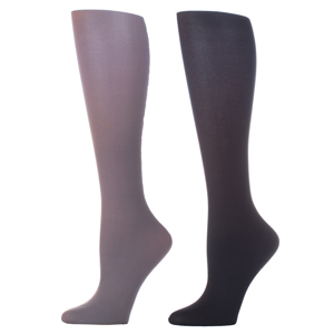 Celeste Stein Compression Sock-Grey Black (2 Pack)