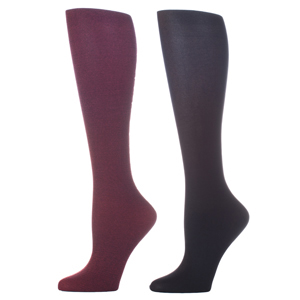Celeste Stein Compression Sock-Purple Black (2 Pack)