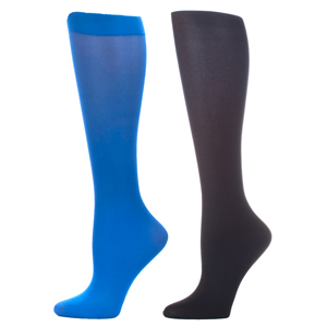 Celeste Stein Compression Sock-Royal Black (2 Pack)