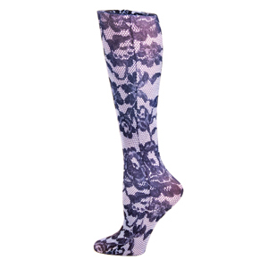 Celeste Stein Womens Diabetic Crew Socks-One Size-Power Lace