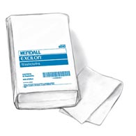 "Covidien (Kendall) 6363 Kendall White Washcloths-10"" x 13""-750/Case"