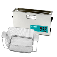 Crest CP1200 2.5 Gallon Ultrasonic Cleaner with Perforated Basket