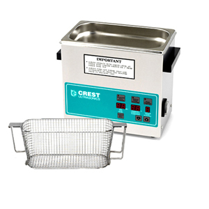 Crest CP230 0.75 Gallon Ultrasonic Cleaner with Mesh Basket
