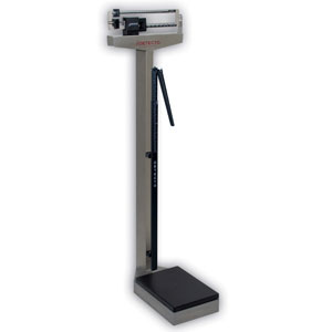 Detecto 439S Stainless Steel Eye Level Beam Scale with Height Rod