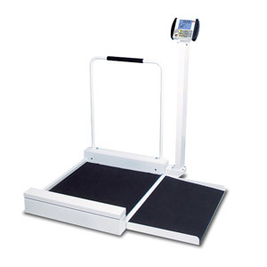 Detecto 6495 Digital Wheelchair Scale with Ramp-800 lb/360 kg Capacity