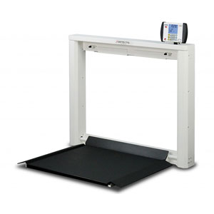 Detecto 7550 Wall Mounted Folding Wheelchair Scale-1000 lb/450 kg