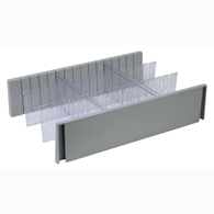 Detecto CAWCDS6 6 Inch Drawer Divider Set for Whisper Cart