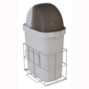 Detecto CAWCWB Waste Bin with Accessory Rail for Whisper Cart