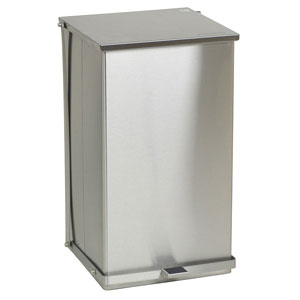 Detecto C Series Stainless Steel Step-On Waste Can Receptacles