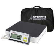 Detecto DR550C Stainless Steel Portable Floor Scale w/ Carring Case