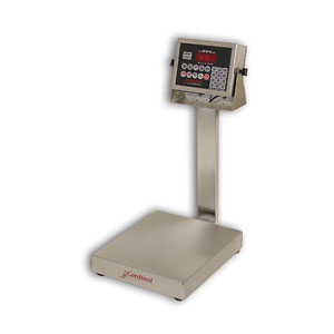 Detecto EB-210 Series Stainless Steel Bench Scales with 210 Indicator
