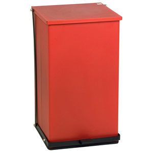 Detecto P Series Step-On Waste Can Receptacles-Red